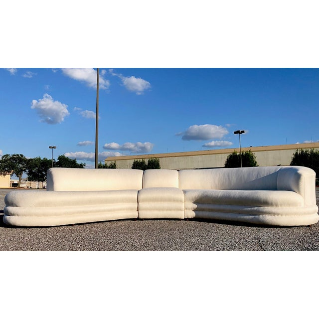 Off-white Vladimir Kagan Serpentine Cloud Sofa For Sale - Image 8 of 10
