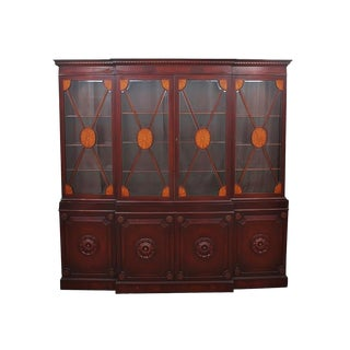 Early 20th Century English Style Solid Mahogany Display Cabinet For Sale