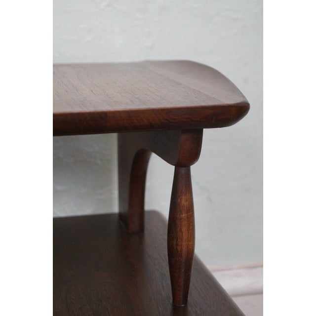 Brown Bassett Mid Century Modern 2 Tier Step End Tables - a Pair For Sale - Image 8 of 10