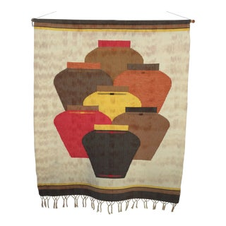 Contemporary Southwestern/Boho Textile Wall Hanging For Sale
