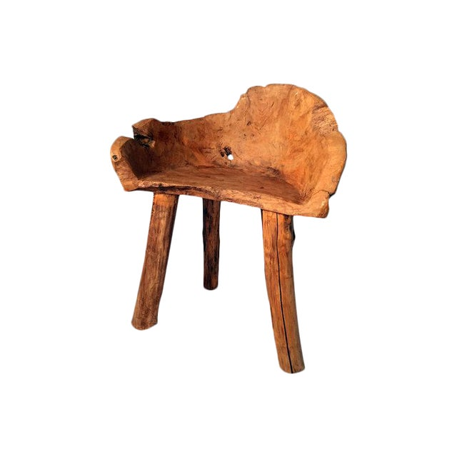 Organic Teak Wood Chair - Image 1 of 2