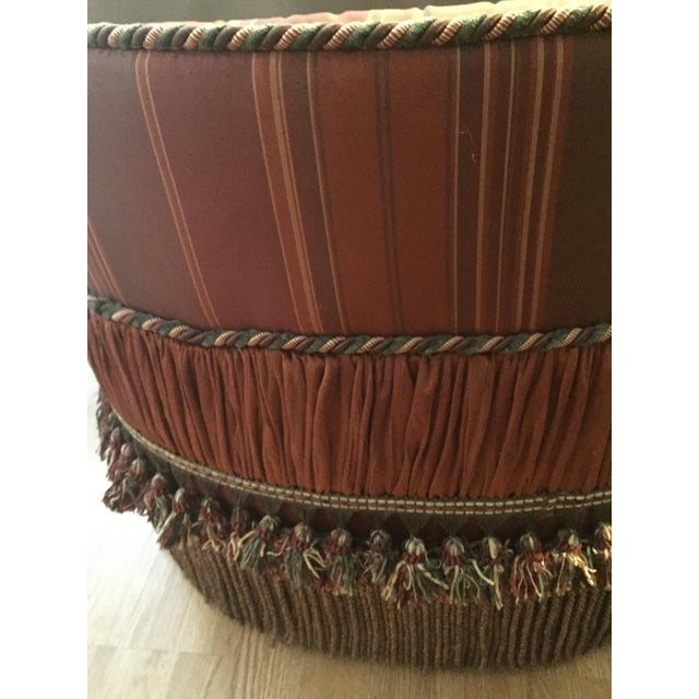 Boho Chic Morrocan Style Ottoman Chair For Sale - Image 3 of 7