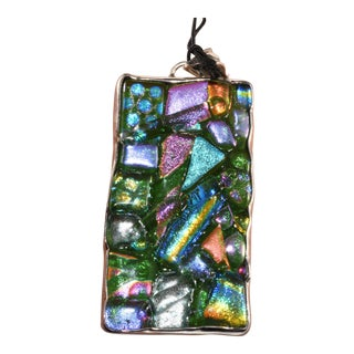 Obsidian Brand Sterling Silver Multi Color Pendant for Necklace For Sale