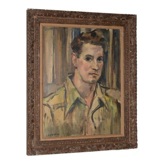 Mid-Century Modern Portrait of a Young Man C.1950 For Sale