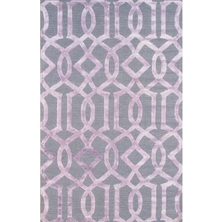 Transitional Wool Area Rug- 5' X 8'