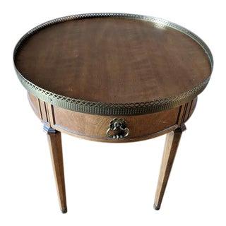 20th Century Louis XVI Henredon Oval Walnut Regency Bouillotte Table For Sale