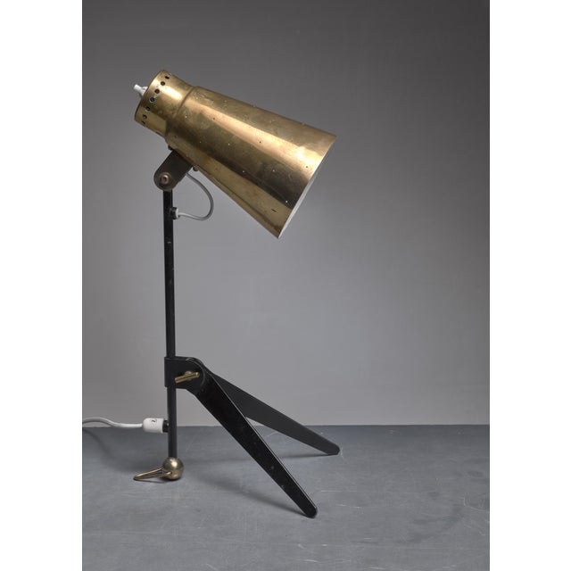 1950s Tapio Wirkkala Brass and Metal Table or Wall Lamp for Itsu, Finland, 1950s For Sale - Image 5 of 7