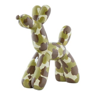 """Interior Illusions Plus Camouflage Balloon Dog 12"""" tall For Sale"""