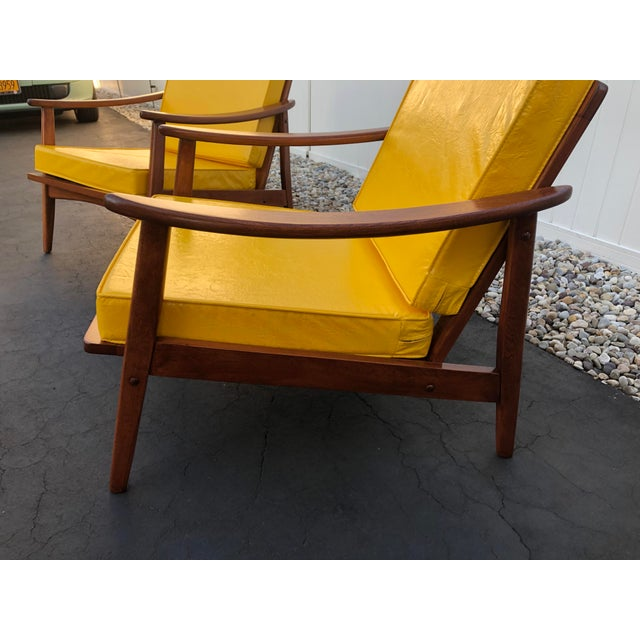 Danish Modern Mid Century Danish Modern Lounge Chairs- a Pair For Sale - Image 3 of 13
