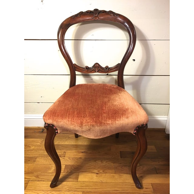 Walnut Balloon Back Accent Chair - Image 2 of 11