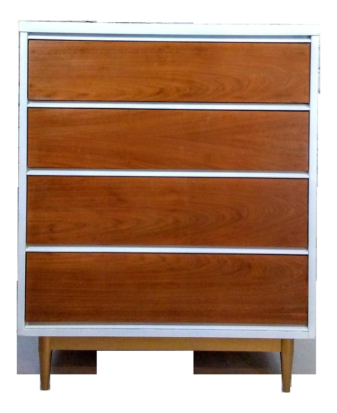 Vintage Mid Century Modern Dresser White Dresser Industrial Loft