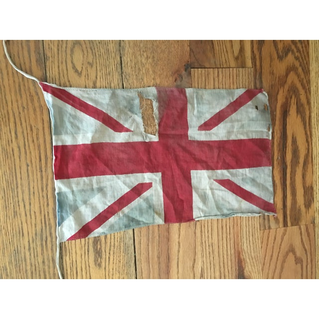 Blue Vintage Union Jack Bunting For Sale - Image 8 of 8