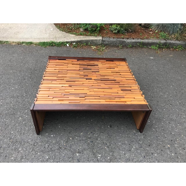 1970s Brazilian Rosewood Perceval Lafer Brutalist Coffee Table For Sale - Image 5 of 8