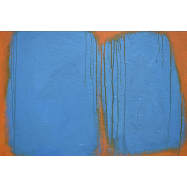 """Canvas Stephen Remick """"Comfort"""" Abstract Painting For Sale - Image 7 of 13"""