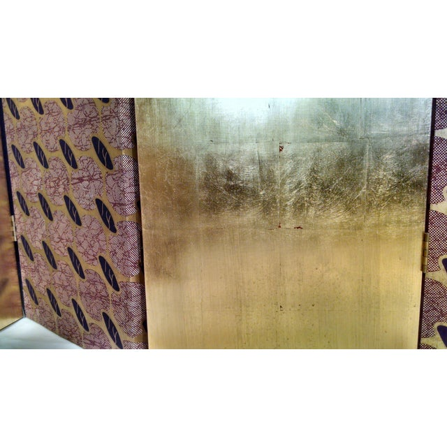 Gold Leaf Floor Screen - 5 Panels - Image 7 of 10