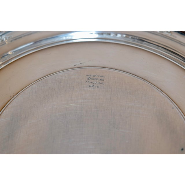 1930s Sterling Sandwich Plate, Circa 1936 For Sale - Image 5 of 7