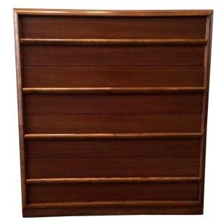 t.h. Robsjohn-Gibbings for Widdicomb Walnut Highboy Dresser For Sale