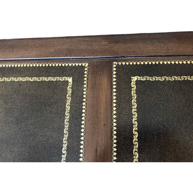 1970s Campaign Sligh Mahogany Brass & Leather Writing Desk For Sale - Image 10 of 12