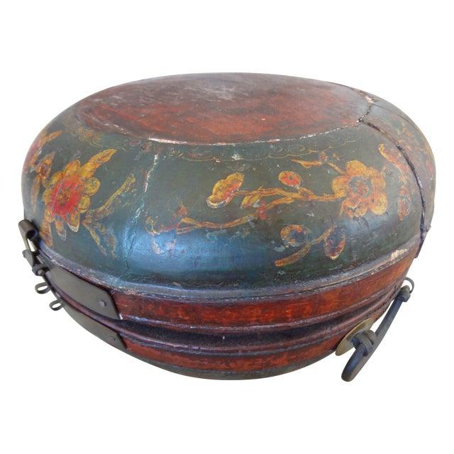 Tibetan Round Wood Box - Image 1 of 10