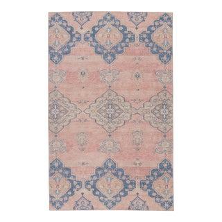 "Vibe by Jaipur Living Adalee Medallion Pink/ Blue Runner Rug - 2'6"" x 7'6"" For Sale"