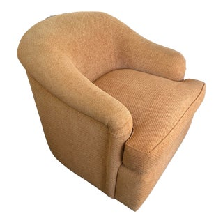 A Rudin Swivel Club Lounge Chair For Sale