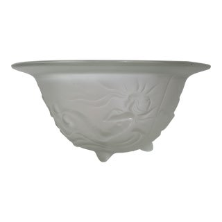 Josef Inwald Barolac Clear Satin Glass Mermaid Bowl For Sale