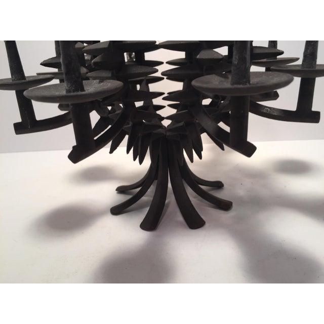 Dansk Jens Quistgaard Iron Pineapple Spike Candle Holder For Sale - Image 4 of 8