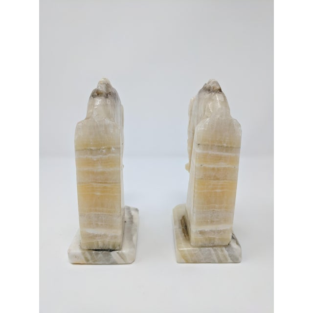 Art Deco Alabaster Horse Bookends - a Pair For Sale In Sacramento - Image 6 of 7