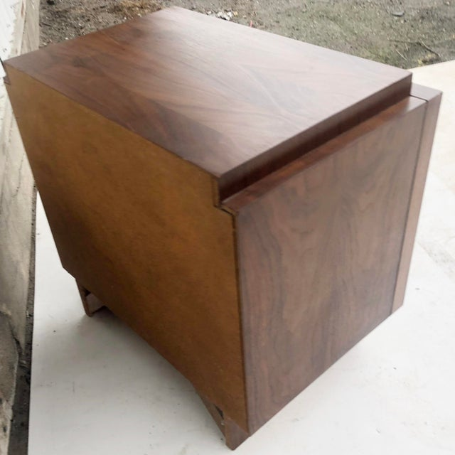 Wood Mid-Century Brutalist Nightstand For Sale - Image 7 of 13