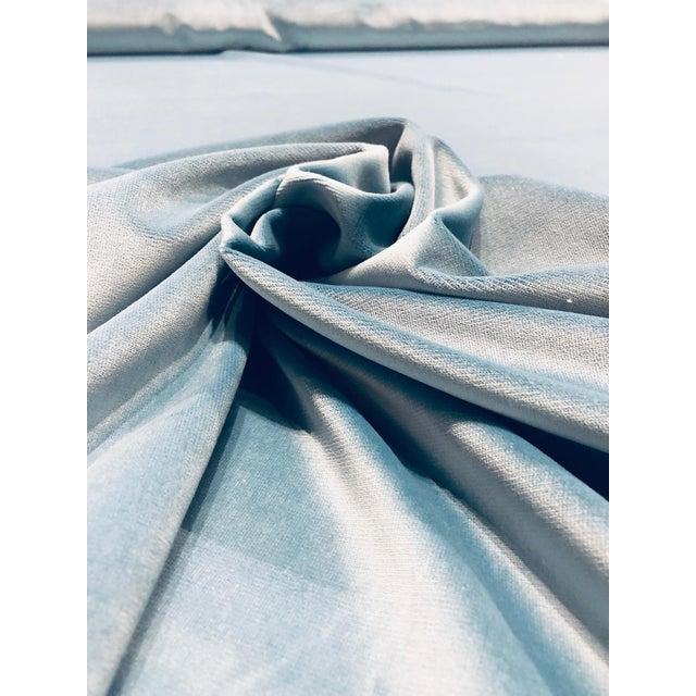 Modern Kravet Design Versailles - E25006 Blue Designer Velvet Fabric ( 3 Yards) For Sale - Image 3 of 6