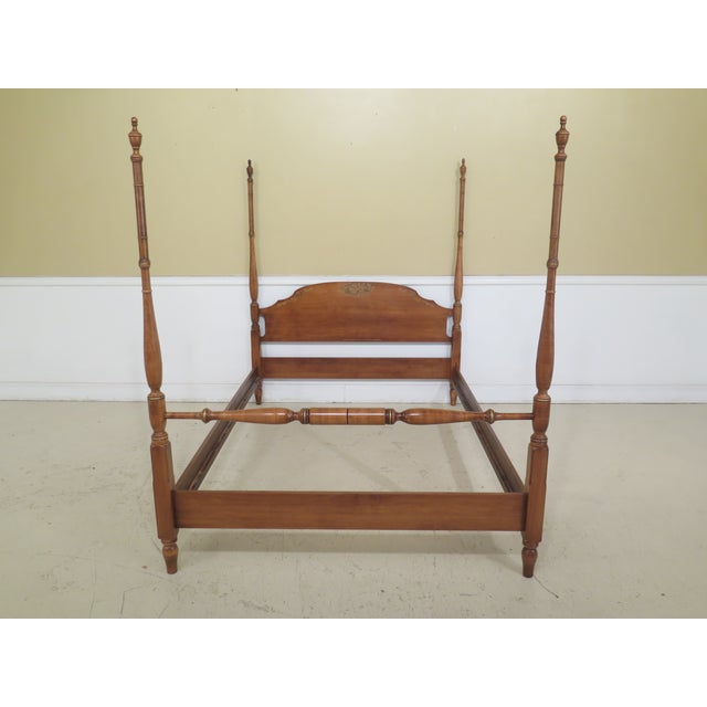 Wood 1980s Vintage Hitchcock Full or Double Size Poster Bed For Sale - Image 7 of 11