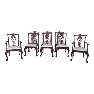 Baker Clawfoot Mahogany Dining Room Chairs - Set of 8 For Sale