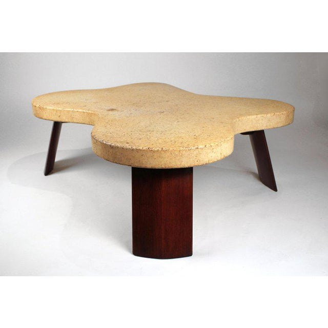 Paul Frankl Cork Top Amoeba Coffee Table for Johnson Furniture For Sale - Image 10 of 10