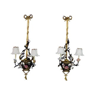 20th Century French Louis XVI Style Monumental Sconces - a Pair