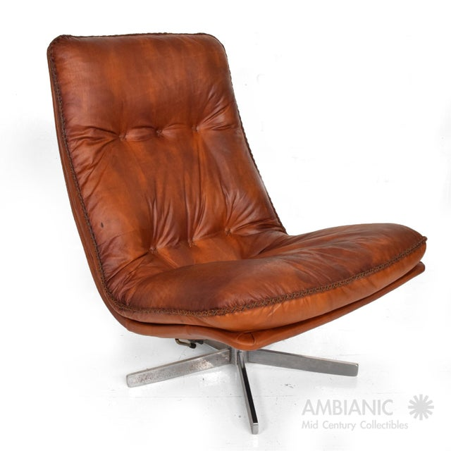 Mid Century Modern Pair of James Bond Arm Chairs by De Sede, Model S 231 For Sale - Image 10 of 11