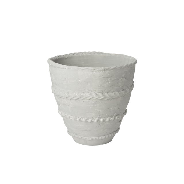 Contemporary Pompeii Gray Cachepot For Sale - Image 3 of 3