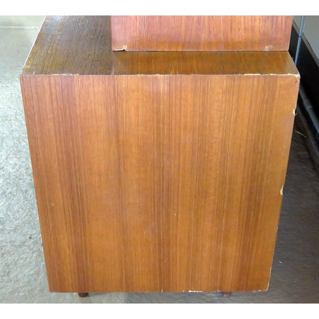 Mid 20th Century Vintage Italian Teak Sideboard For Sale - Image 4 of 11