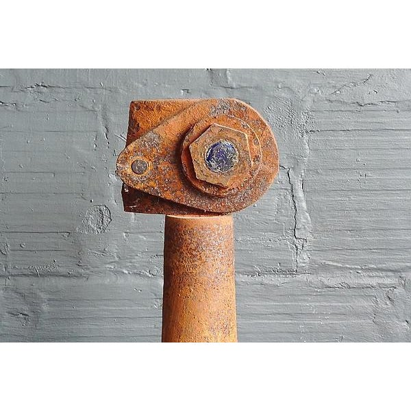 Contemporary Douglas Wallower Weathered Steel Sculpture For Sale - Image 3 of 3