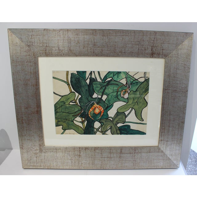 """Vintage Jane Peterson Watercolor Painting """"Spider Orchid"""" For Sale - Image 10 of 13"""