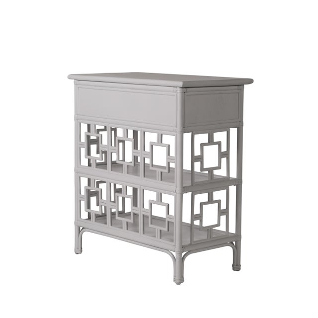 Coastal Sobe End Table - Light Gray For Sale - Image 3 of 6