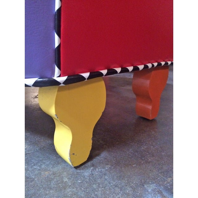 Memphis Inspired Slipper Chair by Harry Siegel For Sale In Los Angeles - Image 6 of 7