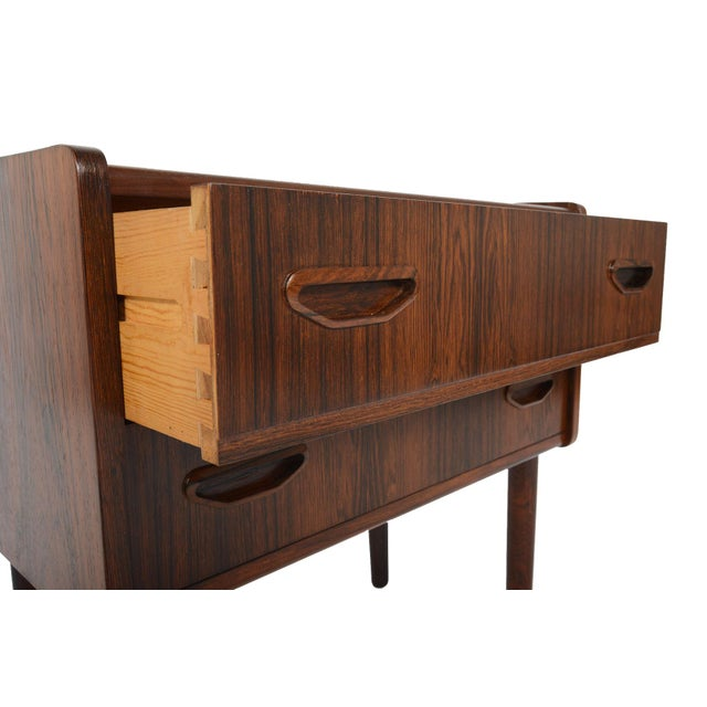 Danish Modern Two Drawer Rosewood Chest - Image 9 of 9