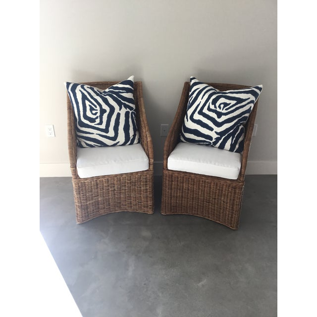 Williams-Sonoma Farallon Chairs - A Pair For Sale - Image 5 of 7