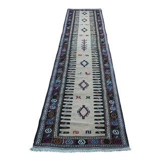 1960s Vintage Turkish Embroidered Runner Rug - 2′8″ × 12′ For Sale