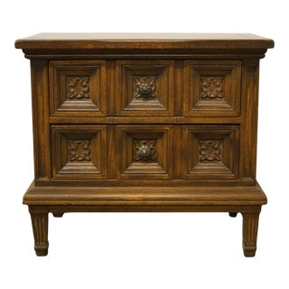 American of Martinsville Spanish Mediterranean 2 Drawer Commode Nightstand For Sale
