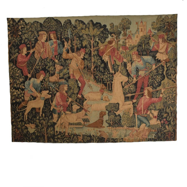 Large Italian Wall Tapestry by Paris Panneaux Gobelins For Sale - Image 12 of 12