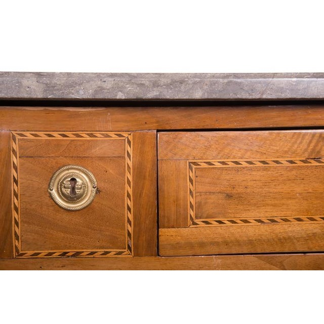 18th Century Italian Neoclassic Walnut and Fruitwood Commode - Image 2 of 6