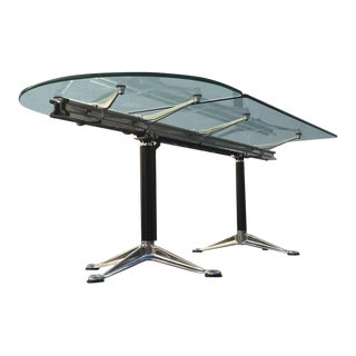 Glass and Aluminum Table Designed by Bruce Burdick for Herman Miller For Sale