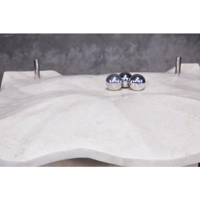 """1990s Post-Modern Tessellated Stone """"Chiseled"""" Cocktail Table For Sale - Image 10 of 13"""