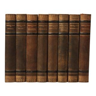 Scandinavian Leather-Bound Books S/8